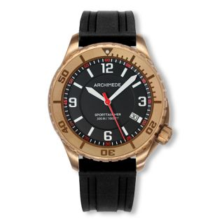 Archimede SportTaucher Bronze Automatic Dive Watch with Rubber Strap